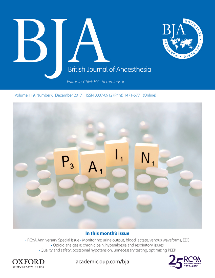 BJA: British Journal of Anaesthesia | Oxford Academic