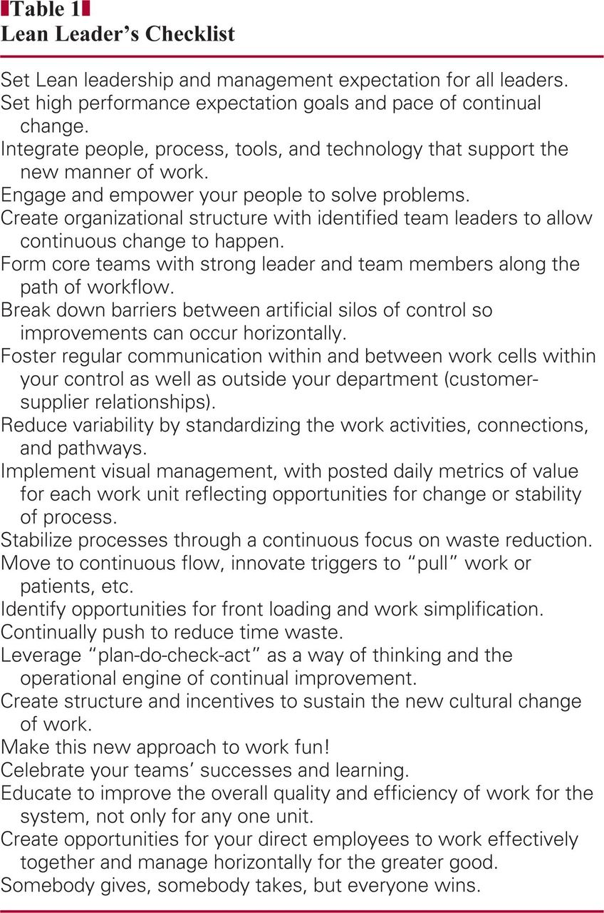 Creating and Sustaining a Lean Culture of Continuous Process ...