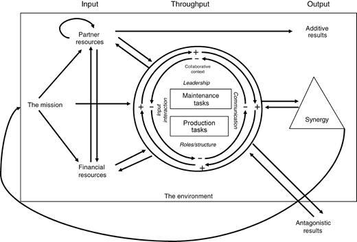 Bergen model of collaborative functioning.