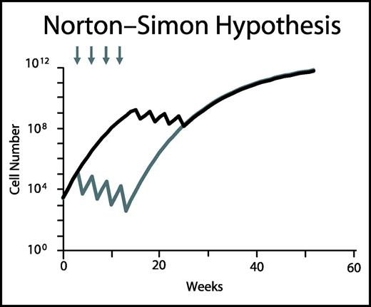 The Norton–Simon hypothesis states that the rate of tumor