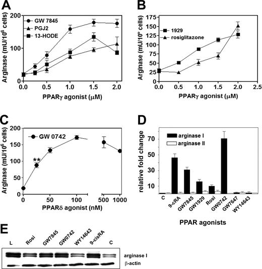 Arginase I Induction by Modified Lipoproteins in Macrophages: A Peroxisome Proliferator-Activated Receptor-γ/δ-Mediated Effect that Links Lipid Metabolism and Immunity