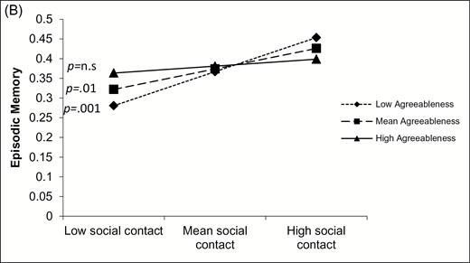 Social Contact and Cognitive Functioning: The Role of Personality