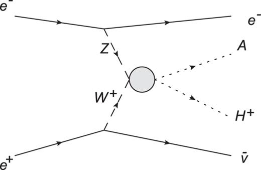 Charged Higgs And Neutral Higgs Pair Production Of The Weak Gauge