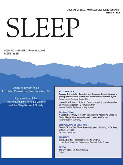 Sleep Cyclic Alternating Pattern In Normal PreschoolAged Children Mesmerizing What Is A Normal Sleep Pattern